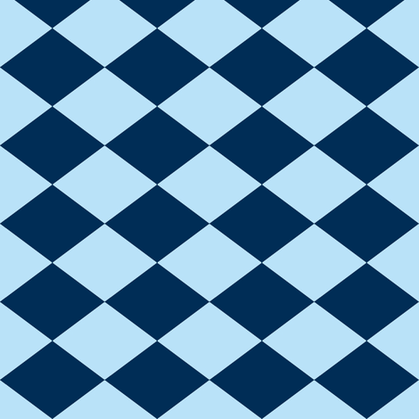 Small Harlequin Check in Blueberry fabric by charmcitycurios on Spoonflower - custom fabric