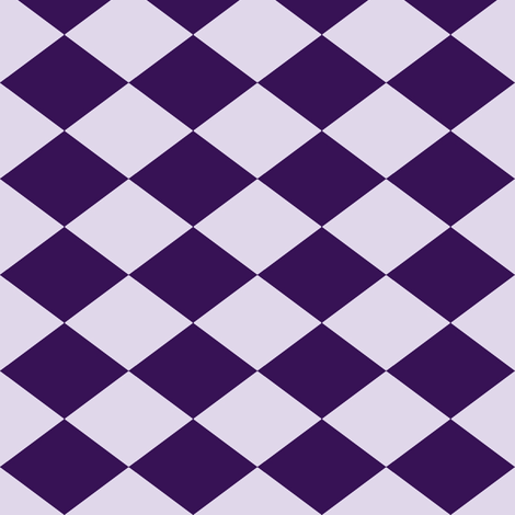 Small Harlequin Check in Grape fabric by charmcitycurios on Spoonflower - custom fabric