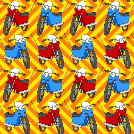 motorbike 1g fabric by sef on Spoonflower - custom fabric