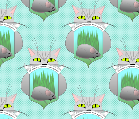 If_the_cat_is_not_happy_no_one_is_happy fabric by glimmericks on Spoonflower - custom fabric