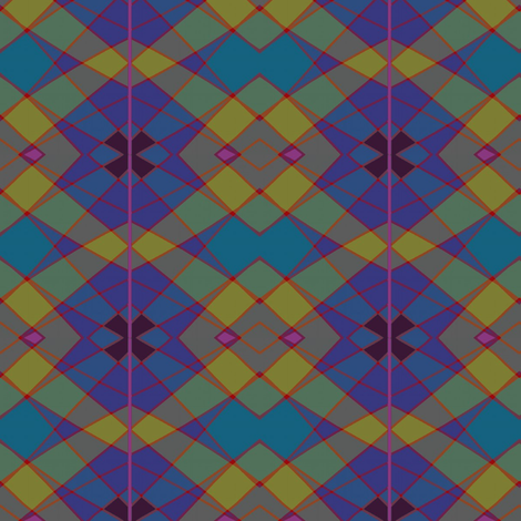 May Argyle (Blues) fabric by david_kent_collections on Spoonflower - custom fabric