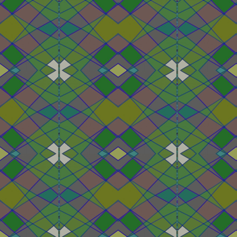 May Argyle (Greens) fabric by david_kent_collections on Spoonflower - custom fabric