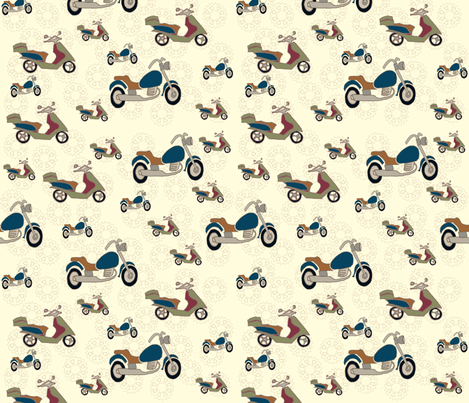 gears'n'go fabric by maggiedee on Spoonflower - custom fabric