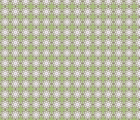 Line Octagons in green, purple, white fabric by rengal on Spoonflower - custom fabric