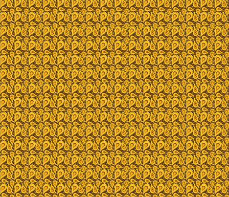 CACHEMIRE TOURNESOL fabric by manureva on Spoonflower - custom fabric