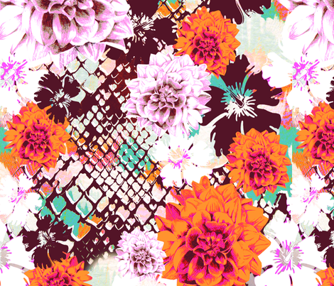 Croc Floral fabric by aimeesthill on Spoonflower - custom fabric