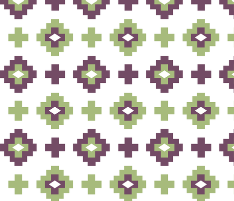 geometric navajo fabric by blueclouds on Spoonflower - custom fabric
