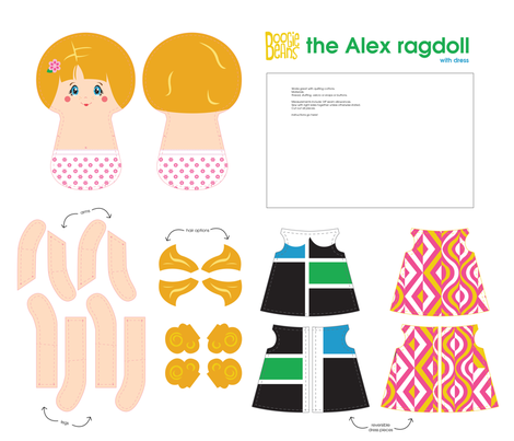 the Alex ragdoll fabric by kfay on Spoonflower - custom fabric