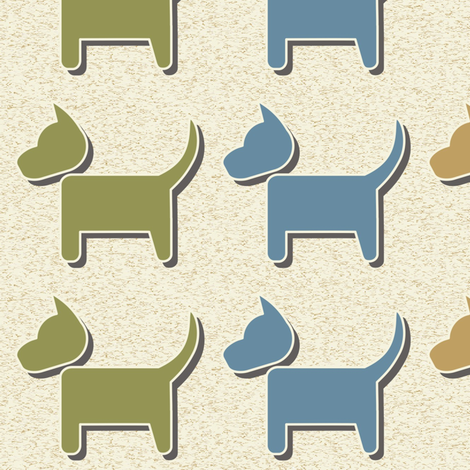 Doggies 2 fabric by dogsndubs on Spoonflower - custom fabric