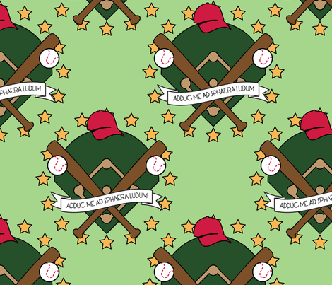 Take Me Out to the Ballgame fabric by studiofibonacci on Spoonflower - custom fabric