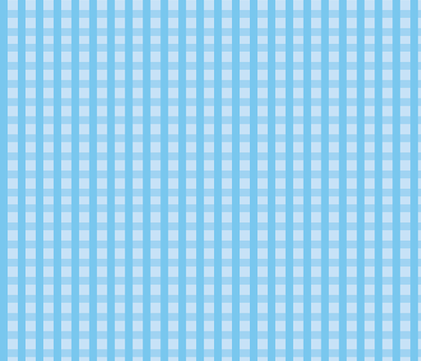 Blue_Gingham fabric by donnamarie on Spoonflower - custom fabric