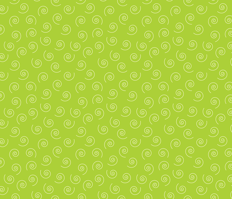 Green_Swirls fabric by donnamarie on Spoonflower - custom fabric