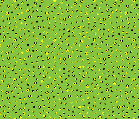 Green_Yellow_Drops fabric by donnamarie on Spoonflower - custom fabric
