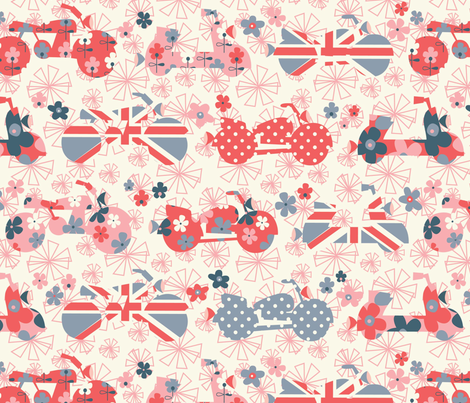 Easy Rider summer fabric by amel24 on Spoonflower - custom fabric