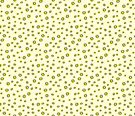 Pale_Yellow_Drops fabric by donnamarie on Spoonflower - custom fabric