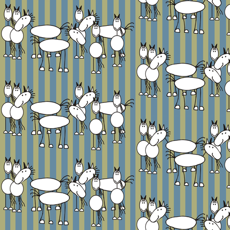 cartoon_horse fabric by dogsndubs on Spoonflower - custom fabric