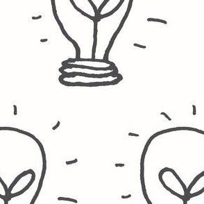 Grey Lightbulb Idea