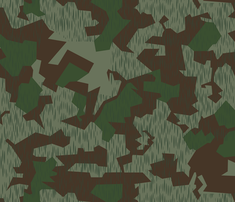 Luftwaffe Splinter B camo Remastered fabric by ricraynor on Spoonflower - custom fabric