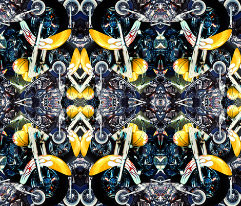 King Biscuit Bike Mandala fabric by zamora_bluz on Spoonflower - custom fabric