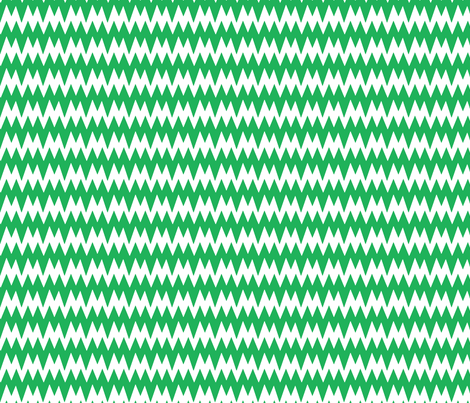 spikey_chevron_green fabric by pininkie on Spoonflower - custom fabric