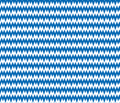 spikey_chevron_blue fabric by pininkie on Spoonflower - custom fabric