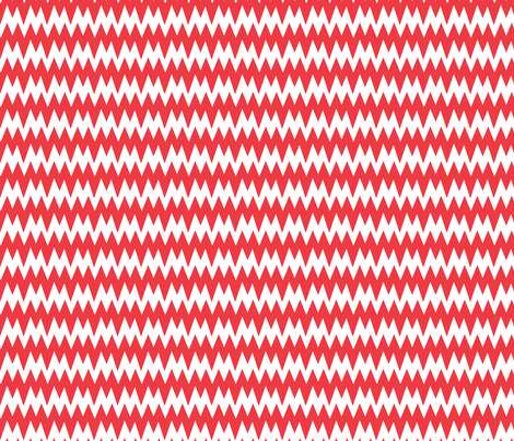 spikey_chevron_red fabric by pininkie on Spoonflower - custom fabric