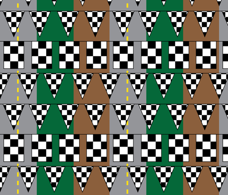At the Finish Line - Road fabric by owlandchickadee on Spoonflower - custom fabric