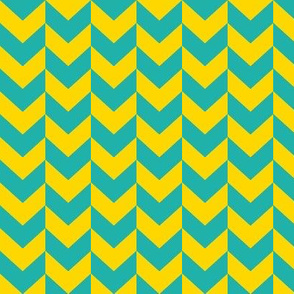 Yellow and teal arrows.