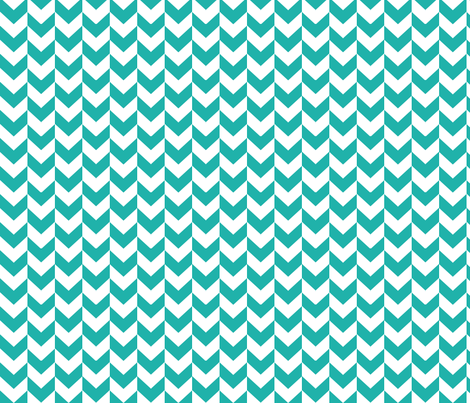 White and teal arrows. fabric by pininkie on Spoonflower - custom fabric