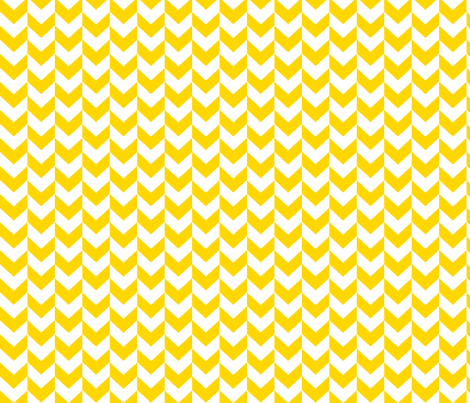 White and yellow arrows. fabric by pininkie on Spoonflower - custom fabric