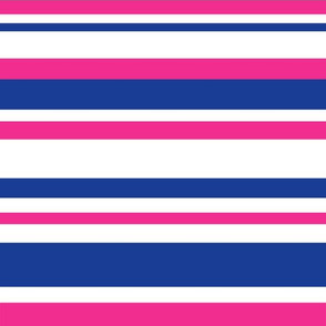 Stripes (blue + pink)