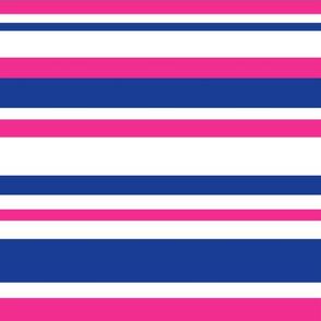 Stripes (blue + pink)