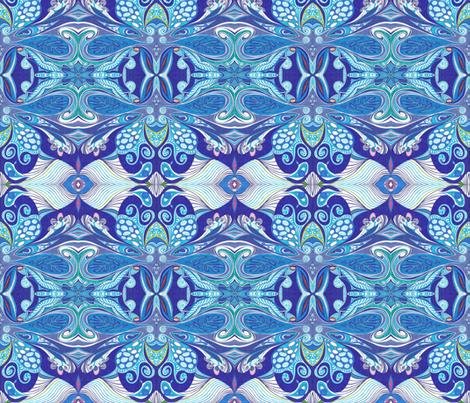 Butterfly_Blues fabric by yezarck on Spoonflower - custom fabric