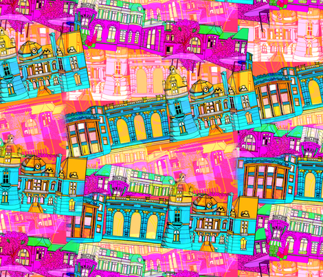 Cityscape_small fabric by aimeesthill on Spoonflower - custom fabric