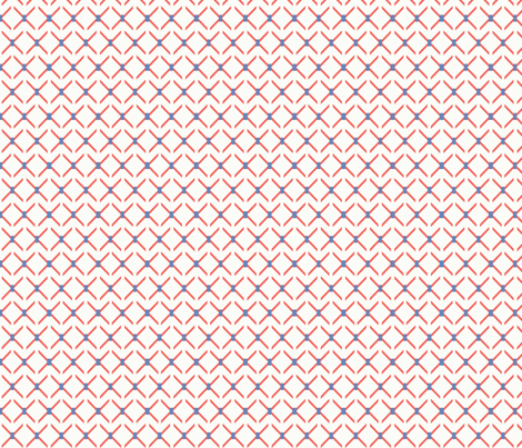 Crisscross fabric by ©_lana_gordon_rast_ on Spoonflower - custom fabric