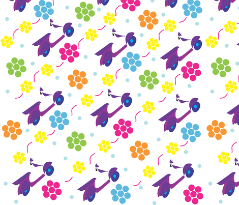 vespa-in-the-summertime fabric by arnie on Spoonflower - custom fabric