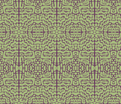 not_ending-purple and olive fabric by kcs on Spoonflower - custom fabric