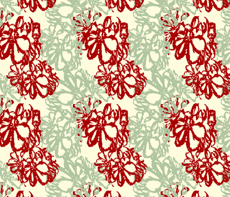Ocean Breeze with Antique Red fabric by cksstudio80 on Spoonflower - custom fabric