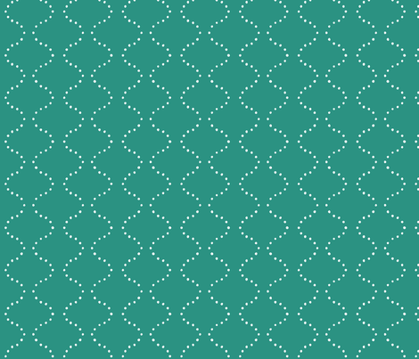 DOTSFLOW in Teal fabric by hitomikimura on Spoonflower - custom fabric