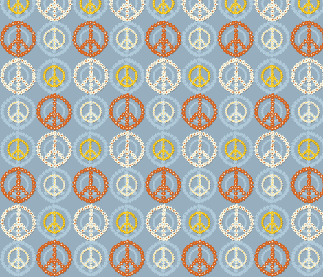 Peace 3 fabric by dogsndubs on Spoonflower - custom fabric