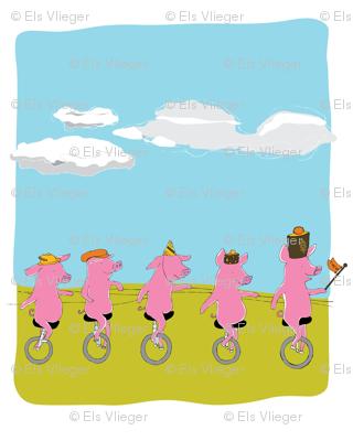 Retro piglets