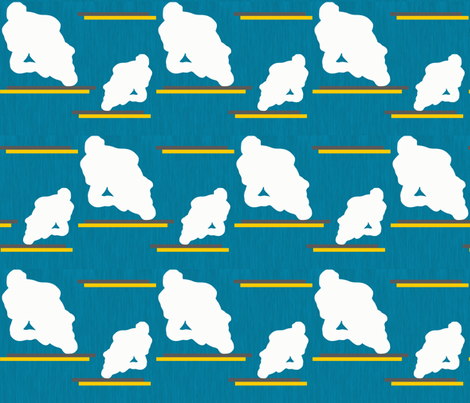 NP-Casey Stoner silhouettes in white fabric by su_g on Spoonflower - custom fabric