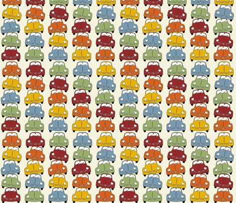 Beetle Totem fabric by dogsndubs on Spoonflower - custom fabric