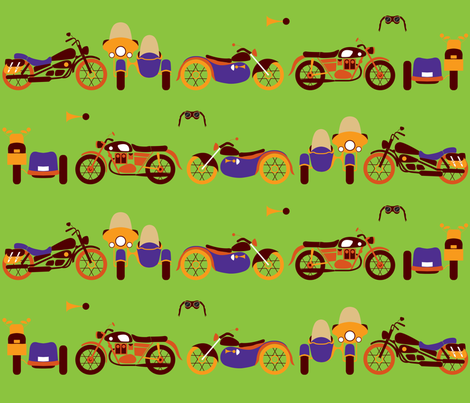 Vintage motorcycles fabric by nataliesingh on Spoonflower - custom fabric
