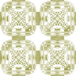 Geo Floral Moss Green Design, S