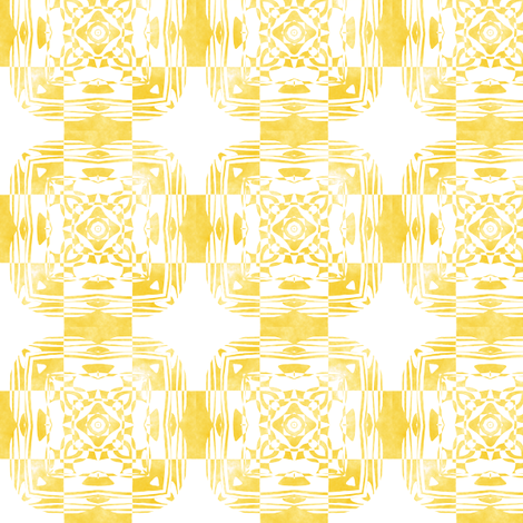 Geo Floral Golden Design, S fabric by animotaxis on Spoonflower - custom fabric