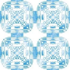 Geo Floral Sky Blue Design, S