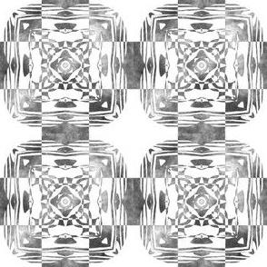 Geo Floral Black Design, S