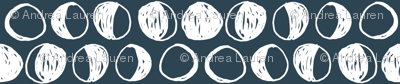 Moon Phases - Parisian Blue/White by Andrea Lauren