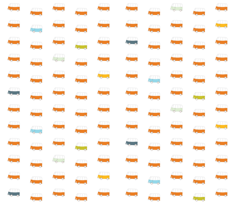 Buses 2 fabric by els_vlieger_illustrations on Spoonflower - custom fabric